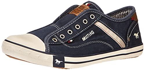 MUSTANG 5803-414 Slip On Sneaker, Blau (Dunkelblau 800), 35 EU