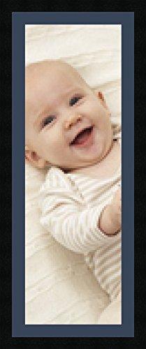 Cadres photos multivues Bleu Fonce 1 photo(s) 25x75 Passe Partout, Cadre photo mural 30x80 cm Noir, 3 cm de largeur
