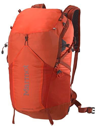 Marmot Kompressor Star Lightweight Hiking Backpack, Blaze/Rusted Orange