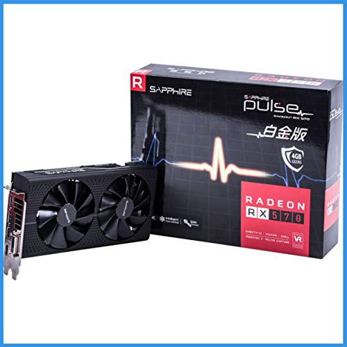 Alician Computer Grafikkarte RX570 4G DDR5 Platinum Edition OC Indie Game Graphics Dual Fan Desktop PUBG Grafikkarte