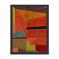 INOV パウルクレー -嬉しい山 景色 インテリア 壁掛け 額入り ポスター アート アートパネル リビング 玄関 プレゼント モダン アートフレーム おしゃれ 30x40cm