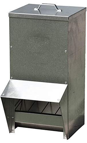 Chicken Feeder Rainproof Outdoor Metallic - (50 Pounds)