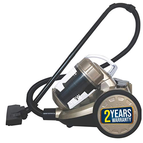 Inalsa Supremo Cyclonic 1400W Bagless Cylinder Vacuum Cleaner with Blower Function,Powerful Suction & High Energy Efficiency| 3L Dust Box Capacity| 2 Years Warranty, (Golden)