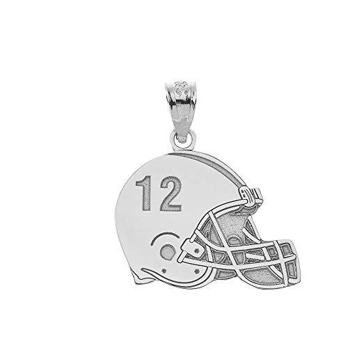 925 Sterling Silver Yellow Gold-Plated Official Virginia Tech Pendant Charm in Football 20mm