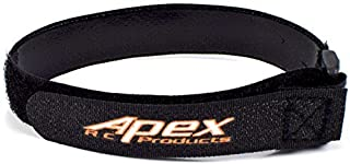 Apex RC Products 5 Pack 16mm x 300mm HD Rubberized Battery Straps Non-Slip 3021