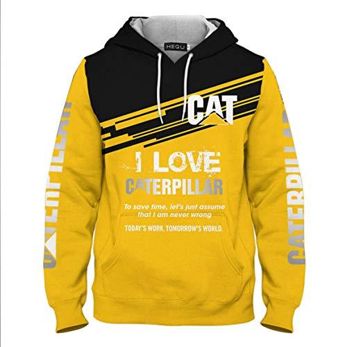 RALC degna di Gatto Caterpillar Trattore Felpe con Cappuccio Uomini Moda Cappotto di Lana Fodera Giacca Cat Power Felpe con Cappuccio, Uomo, W0024ZH/L, L
