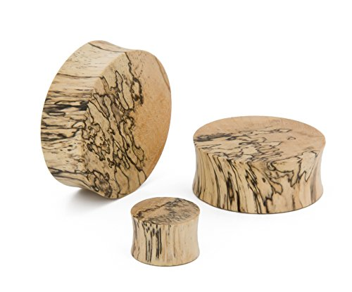 Elementals Organics Tamarind Solid Wood Plugs for Ear - Smooth Wooden Ear Gauge, 32mm, 1-1/4 Inch, Price Per 1 Earring