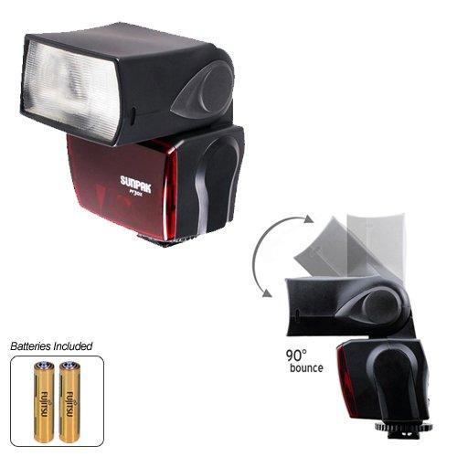 Sunpak DigiFlash 2800 Electronic Flash Unit (Nikon i-TTL) for Nikon D40, D60, D3000, D3100, D5000, D90, D300, D300s, D7000 & D3 Digital SLR Cameras
