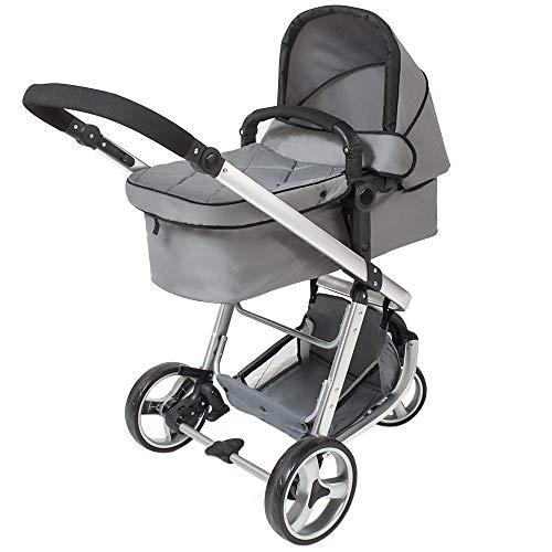 tectake 800043 Passeggino, Carrozzina, Baby Jogger 3 in 1, in diversi Colori (Grigio | No. 400829)