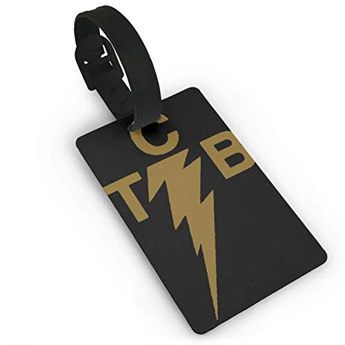 TCB Elvis Logo Luggage Tags, Bag Tag Travel ID Labels Tag for Baggage Suitcases Bags