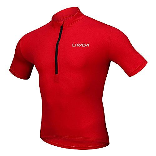 Lixada Maillots de Ciclismo Hombres Verano Camisa Transpirable de Secado Rápido y...