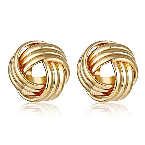 Pendientes colgantes de aleación de plata dorada para mujeres Pendientes de exageración Boda Accesorios de tendencia de joyería de moda simple