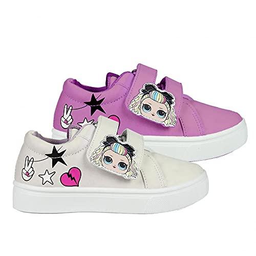 Cerdá LOL Surprise Mädchen Sneakers Farbwechsel Under Sunlight Lila Rosa Weiß Schuhe (Numeric_31)