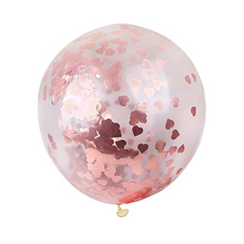 DW4Trading® XL ballon 90 cm hartjes confetti