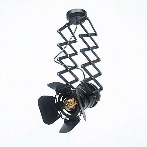 JINYU Vintage Decke Spotlight Fixture E27 Spot Light Industrial Spot Wandleuchte Verstellbare Metallspur Pendelleuchte für Coffee Bar Esszimmer (Birne nicht im Lieferumfang enthalten)
