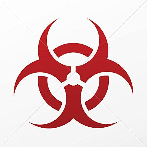 Stickers Decal Biohazard Sign Decoration Bike Motorbike Bicy Red Dark (5 X 4.61 Inches) -  oneclickstickers, 6V041260511