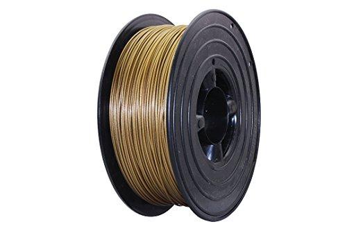 3D Filament 1kg B-Ware Filament Rolle in verschiedenen Farben Rot Gold Silber Grün Blau Braun Lila Violett Beige Transparent Gelb Orange Schwarz Weiß (Gold (B-Ware))