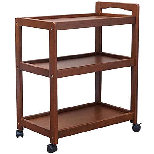 Trolley Trolley Household Multilayer Trolleys Bedroom Bar Service Trolley Swivel Wheels Rectangular Thicker Structure Easy to Move Multifunction