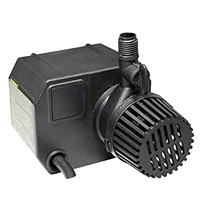 Beckett Corporation 355 GPH Submersible Pond Pump - Water Pump for Ponds, Fountains, Fish Tanks, and Aquariums - 12.2' Max Fountain Height, Black