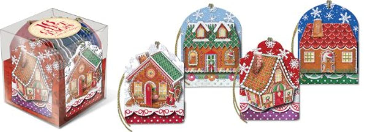 Punch Studio Gingerbread Christmas Holiday Gift Tags (Set of 16)