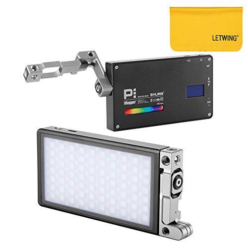 BOLING BL-P1 Pocket LED Luce Video Dimmerabile 2500K-8500K a Colori con Staffa 360 per Vlog Live Studio con Cavo di Ricarica USB Speciale