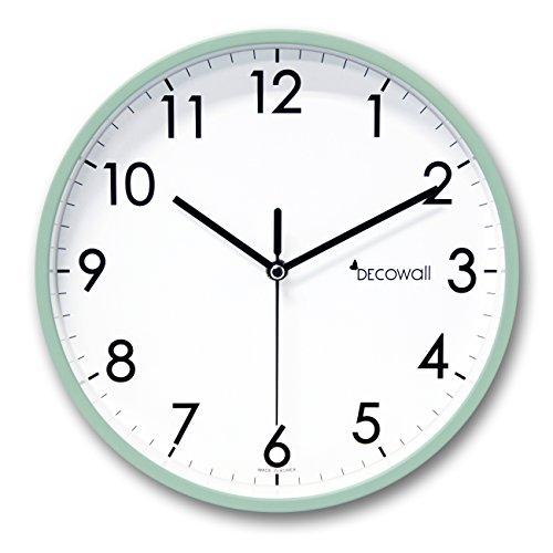 DECOWALL DSH-A25GN 9.8' Sin Tictac Reloj de Pared Silencioso Bricolaje Pastel Moderno Decoración para Hogar Habitación Vivienda Dormitorios Oficina Cocina (25cm, Verde)