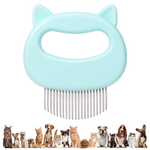 ALEXTREME Cat Comb Massager Relaxing Pet Brush Dog Grooming Deshedding Hair Removal Open Knot Massage Comb Safe Dematting Comb for Easy Mats amp Tangles Removing  No More Nasty Shedding and Flying Hair