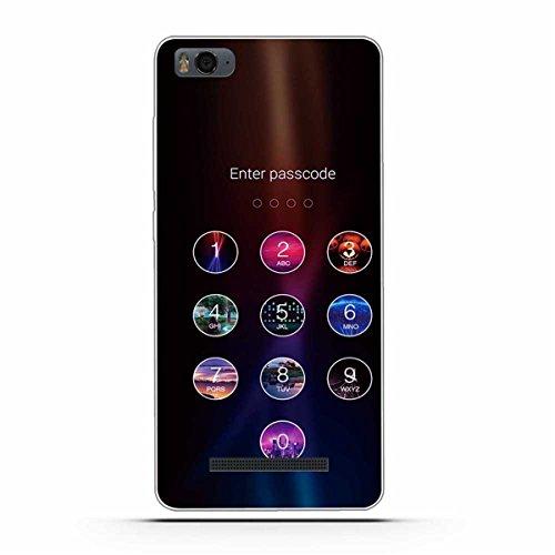 Gift_Source Xiaomi Mi 4i Hülle, Xiaomi Mi 4c Hülle, [Passwort eingeben ] Schutz-Hülle Silikon TPU transparent Ultra-Slim Hülle Cover Ultra-Thin durchsichtig für Xiaomi Mi4i / Mi4C 5.0inch