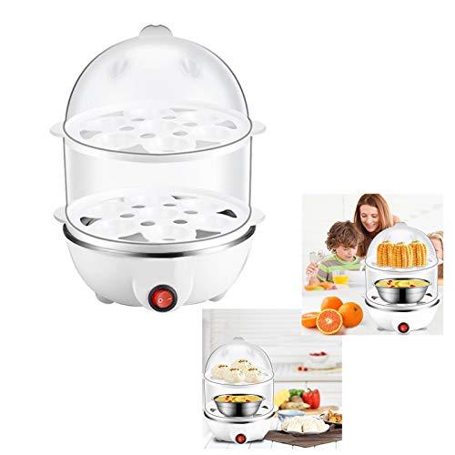Grandwen-JPスチームクッカー ゆで卵 ティファール フライパン 電気 フライパン フードスチーマー 蒸し器 温泉卵器 エッグスチーマー ゆで卵 目玉焼き エッグ (1件・ホワイト)