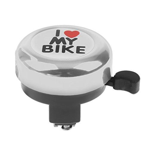 """Generic Für Kinder / Erwachsene Fahrradklingel – Laut Handklingel """"I Love My Bike"""" – Schöne Farbe Auswählbar – Silber - 6"""
