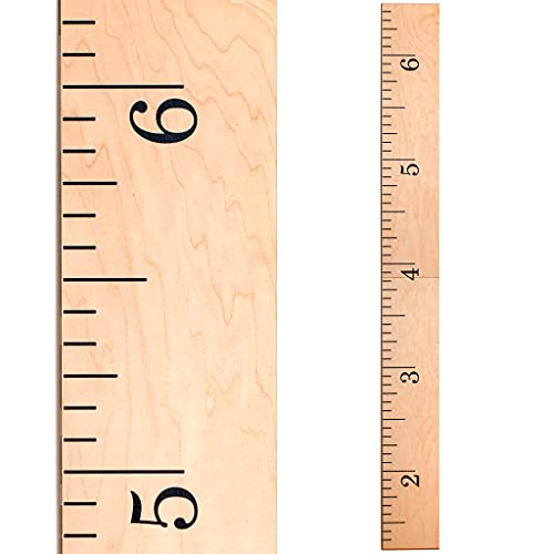 Product Image of the Wooden Ruler Growth Height Chart Ruler for Measurement for Kids, Boys + Girls  ...