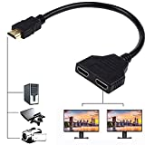 HDMI Splitter Adapter Cable HDMI Male 1080P to Dual HDMI Female 1 to 2 Way HDMI Splitter Adapter Cable for HDTV HD, LED, LCD, TV