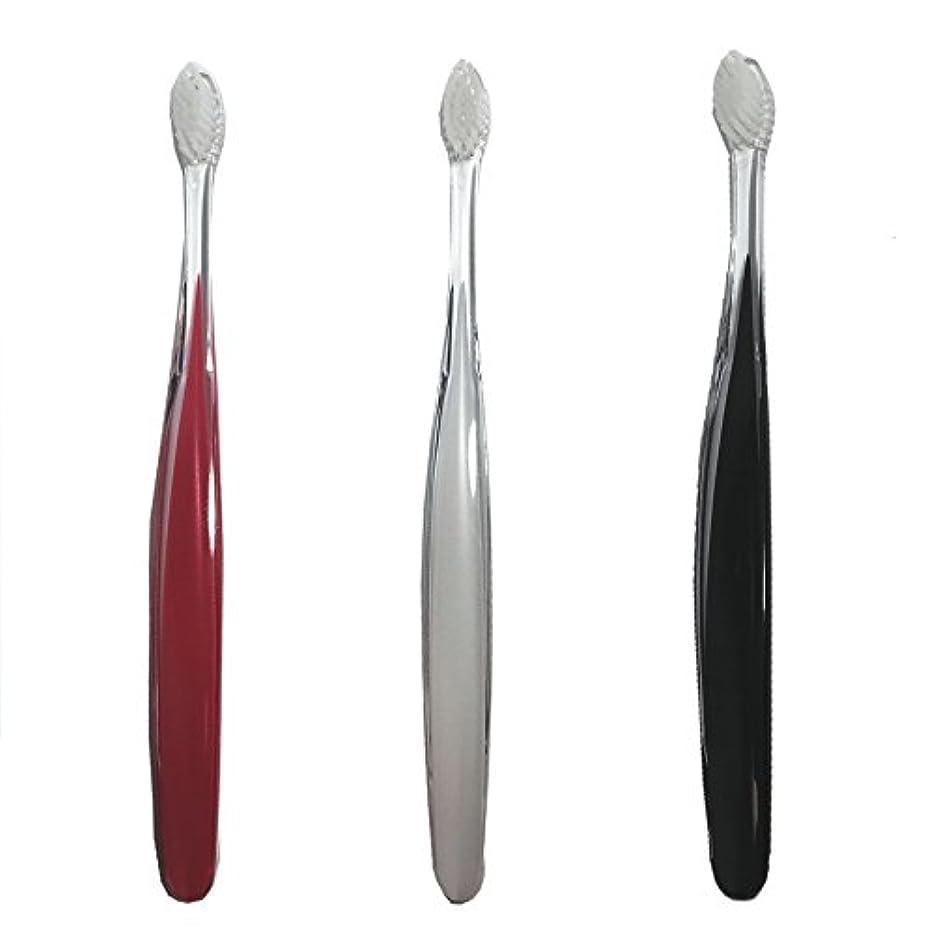 アトミックはがきまっすぐサムライ(SAMRAI)歯ブラシ ふつう 3色セット