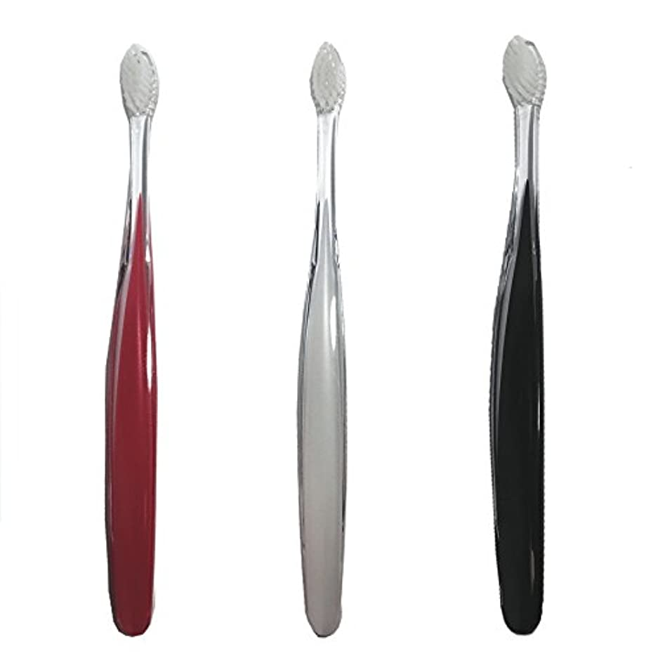 パンサー粘り強い道路を作るプロセスサムライ(SAMRAI)歯ブラシ ふつう 3色セット