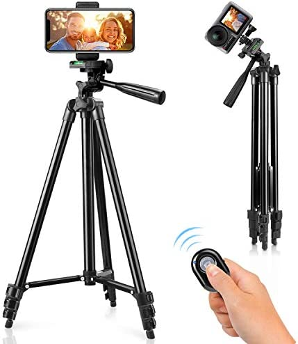 Phone Tripod 51 Tripod for iPhone Cell Phone Tripod with Phone Holder and Remote Shutter Compatible product image