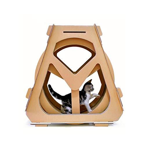 TIANYOU Creativo Rascador para Gatos Modelo de Rueda Hidrá