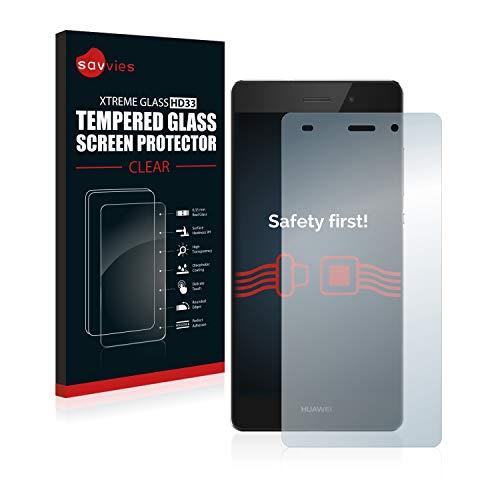 Savvies Panzerglas kompatibel mit Huawei P8 Lite 2015/2016 - Echt-Glas, 9H Festigkeit, Anti-Fingerprint