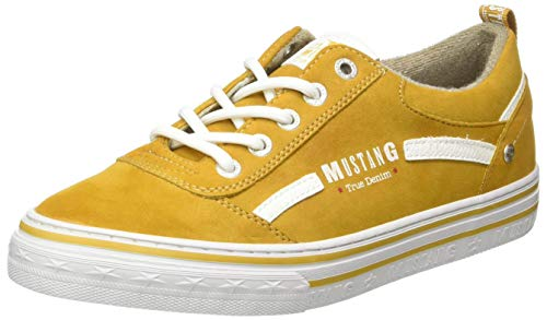 MUSTANG Damen 1354-312-6 Sneaker Sneaker Gelb,39 EU