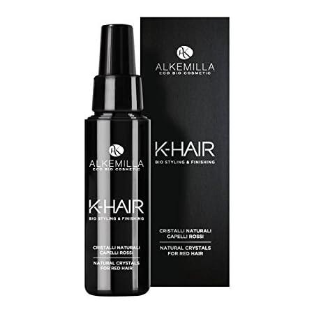 ALKEMILLA - K-Hair - Cristalli Naturali Capelli Rossi - Effetto iper shining -Idratazione e lucentezza - Con Acido Jaluronico e Vitamina E - 50 ml