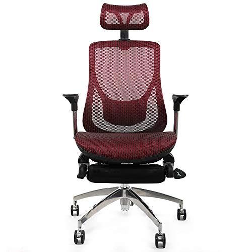 Qi Peng Fauteuil de Bureau/Chaise pivotante Fauteuil Comfort Comfort Seat Siège d'ordinateur Ordinateur de Ventilation à Domicile Jeu Esports Chair Fauteuil Ergonomique Chaise pivotante