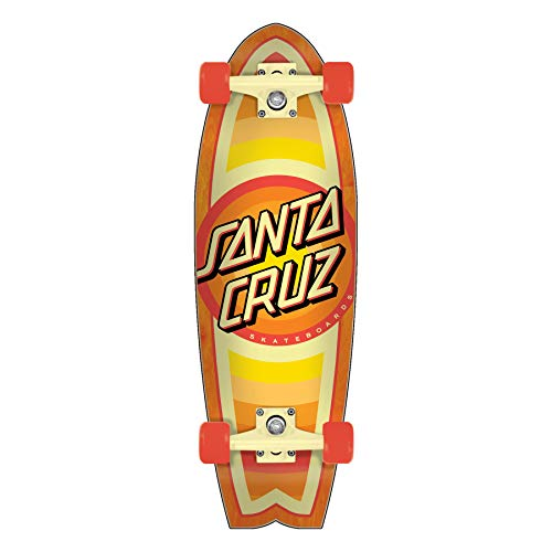 "Santa Cruz Skateboards Cruiser Complete Gleam Dot Shark Yellow 8.8"" x 27.7"""