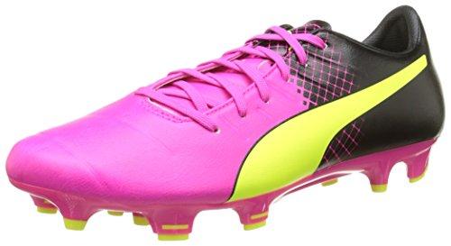PumaevoPOWER 3.3 Tricks FG - Scarpe da Calcio Uomo, Rosa (Pink (pink glo-safety yellow-black 01)), 41