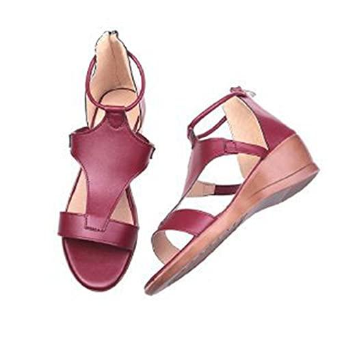 Sandali da donna Comfort Slides scarpe da spiaggia, design con fibbie, estive, da spiaggia