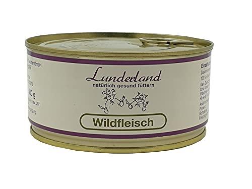 Lunderland-Dosenfleisch-Wildfleisch 5 x 300g (insg. 1,5kg), Eine ideale Dose für Hunde, die extrem fettarm ernährt Werden müssen