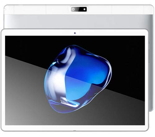 Tablet Android 8.1 10 Pulgadas con 4GB de Memoria ROM de 64 GB incorporada Cámara WiFi GPS Dos Ranuras para Tarjetas SIM para desbloquear la Tableta del teléfono 3G (Plata)