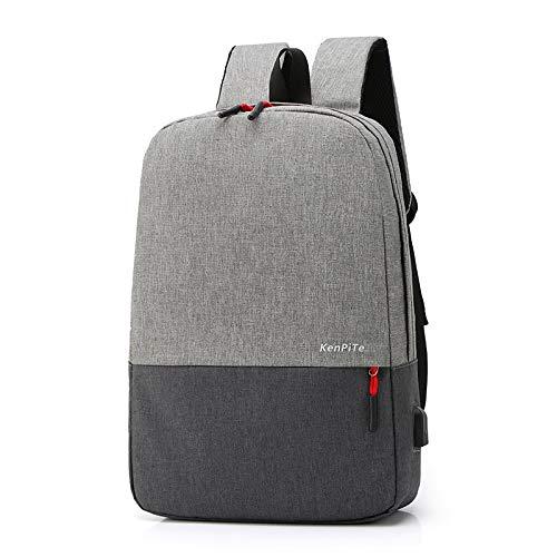 GQDP Mochila moderna para viajeros casuales, ligera y sencilla para ordenador al aire libre, gris (Gris) - T614