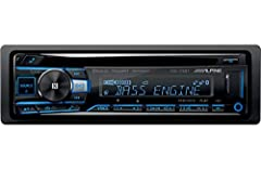 Cd receiver with AM/FM tuner, plays FLAC files via USB, and detachable face with variable color display Bluetooth Features: hands-free calling and audio streaming, includes dual phone connection for iPhone and Android, and Siri eyes free voice contro...