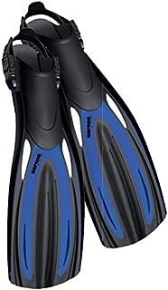 Sopras Sub Nautilus Fins scuba diving Open Hell Fin BLUE Size LG Snorkel Dive