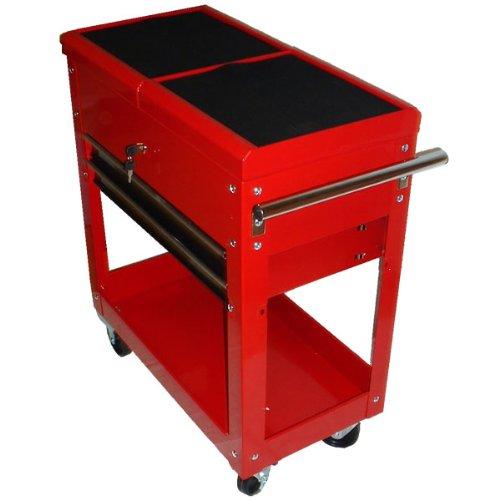 MAUK Werkzeugwagen Werkstattwagen gefüllt mit Schubladen Rollen & Werkzeug Rot