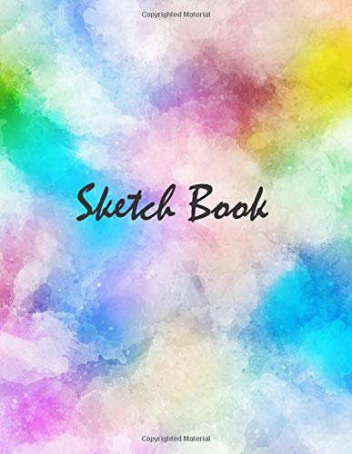 Sketch Book: Notebook for Drawing, Doodling, Writing, Painting and Sketching 109 Pages 8.5' x 11' Large Blank Paper Sketchbook ( Watercolor Cover Journal )